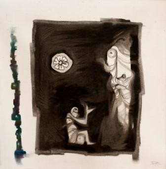 """Painting titled """"PLEADING"""" by Thushara A., Original Art, Other"""