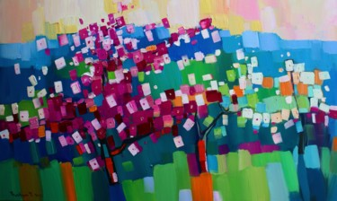 """Painting titled """"Spring (45x75cm, oi…"""" by Tigran Aveyan, Original Art, Oil Mounted on Stretcher frame"""
