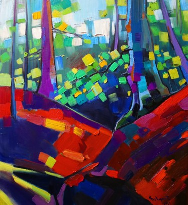 """Painting titled """"Forest mood-2 (50x6…"""" by Tigran Aveyan, Original Art, Oil Mounted on Stretcher frame"""
