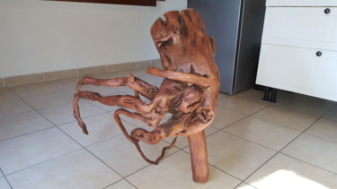 Sculpture, wood, abstract, artwork by Timothe Cibilleau