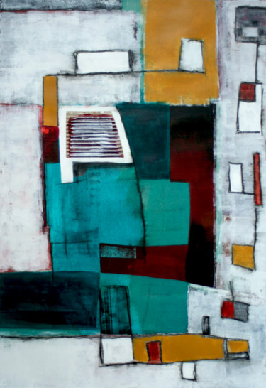 """Painting titled """"Urban Connections"""" by Timothy Malone, Original Art, Acrylic"""
