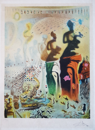 """Printmaking titled """"Salvador Dali - Tor…"""" by Time Machine, Original Art, Lithography"""