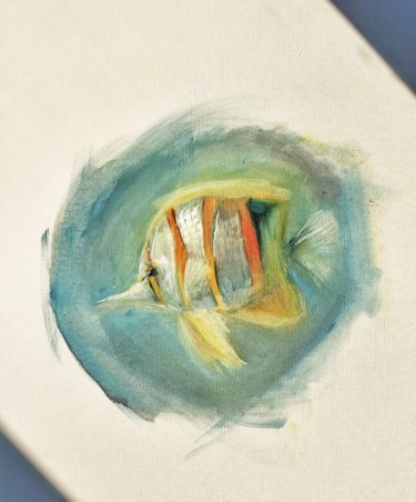 Fish Painting, oil, expressionism, artwork by Tim Zänkert