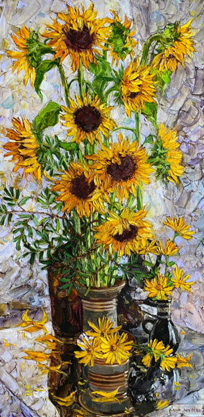 """Painting titled """"Flowers of the sun"""" by Olga Sedykh, Original Art, Oil"""