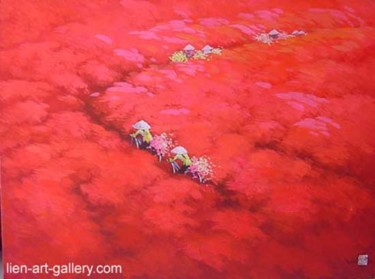 """Painting titled """"My country is the f…"""" by To Ngoc, Original Art, Oil"""