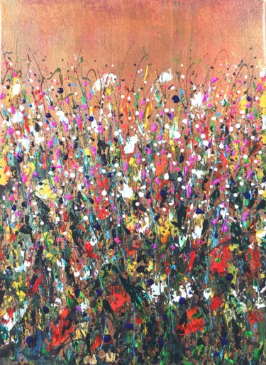 """Painting titled """"Floral fantasy #2 -…"""" by Natalia Toderica, Original Art, Acrylic"""