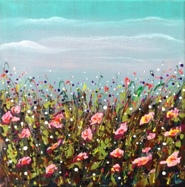 """Painting titled """"""""Summer Mood #1""""-Ab…"""" by Natalia Toderica, Original Art, Acrylic"""