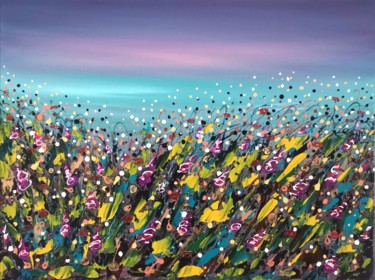 """Painting titled """"""""Floral fantasy #6""""…"""" by Natalia Toderica, Original Art, Acrylic"""