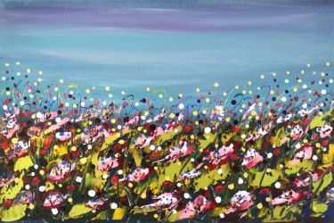 """Painting titled """"""""Floral fantasy #7""""…"""" by Natalia Toderica, Original Art, Acrylic"""