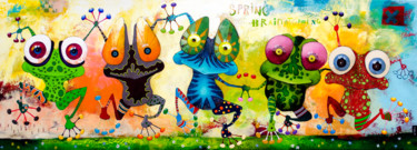 """Painting titled """"Spring Brainstorming"""" by Toma, Original Art, Acrylic"""