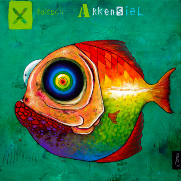 """Painting titled """"Poisson Arkensiel"""" by Toma, Original Art, Acrylic"""