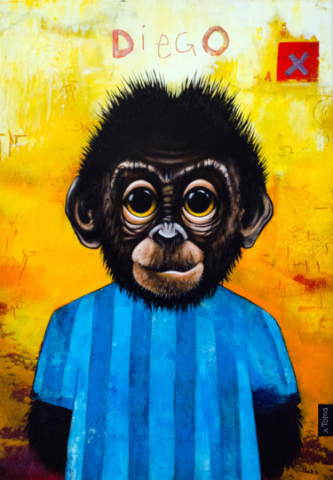 """Painting titled """"Diego"""" by Toma, Original Art, Acrylic"""