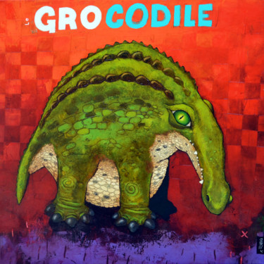 """Painting titled """"Le Grocodile"""" by Toma, Original Art, Acrylic"""