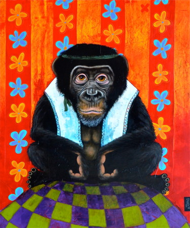 """Painting titled """"Le Sage"""" by Toma, Original Art, Acrylic"""