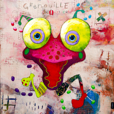 """Painting titled """"Grenouille Coquelic…"""" by Toma, Original Art, Acrylic"""