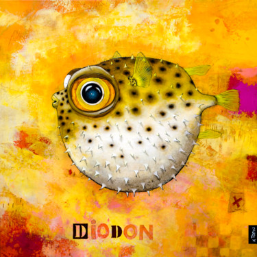 """Painting titled """"Diodon"""" by Toma, Original Art, Acrylic"""