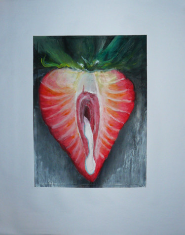 """Painting titled """"Strawberry"""" by Tom Vincenec, Original Art, Acrylic"""