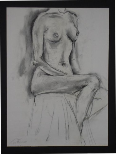 """Drawing titled """"Female Nude #3"""" by Toni Medford, Original Art,"""