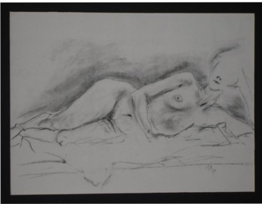 """Drawing titled """"Female Nude #6"""" by Toni Medford, Original Art,"""
