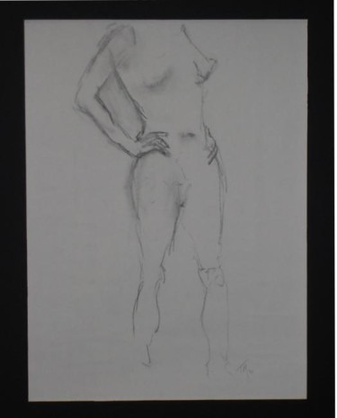"""Drawing titled """"Female Nude #8"""" by Toni Medford, Original Art,"""