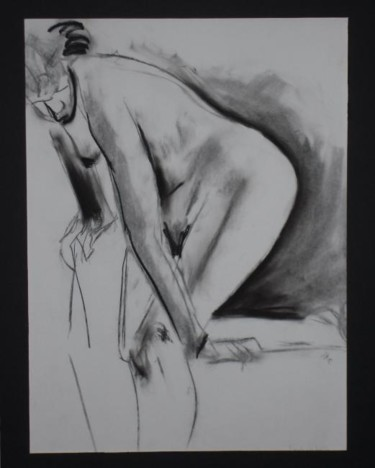 """Drawing titled """"Female Nude #16"""" by Toni Medford, Original Art,"""