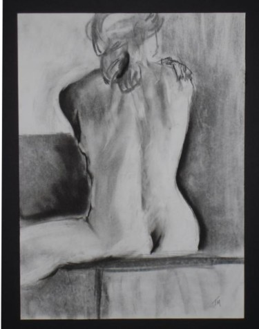 """Drawing titled """"Female Nude #17"""" by Toni Medford, Original Art,"""