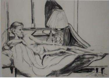 """Drawing titled """"Female Nude #23"""" by Toni Medford, Original Art,"""