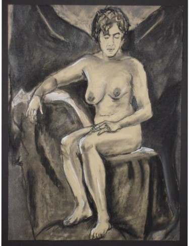 """Drawing titled """"Female Nude #28"""" by Toni Medford, Original Art,"""