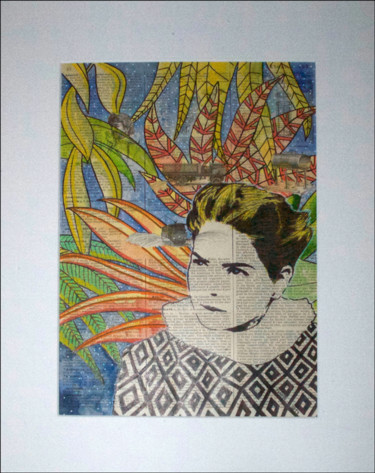 """Painting titled """"Femme tropicale 1"""" by Tony ®, Original Art, Acrylic"""
