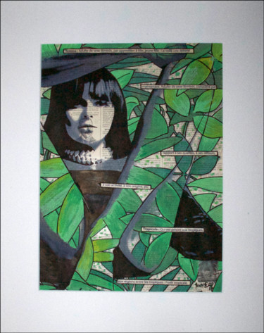 """Painting titled """"Femme tropicale 2"""" by Tony ®, Original Art, Acrylic"""