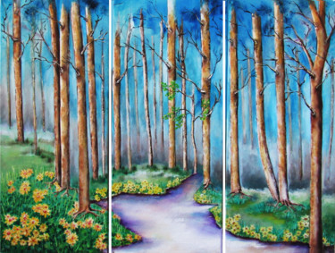 """Painting titled """"Follow Your Path"""" by Miriam Besa, Original Art, Oil"""
