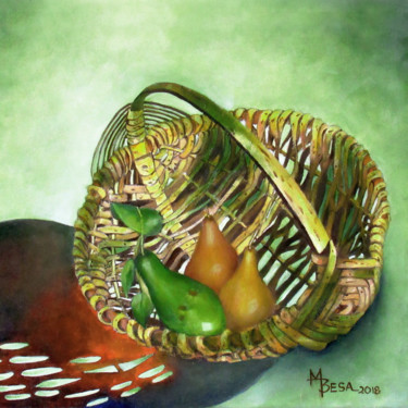 """Painting titled """"Avocado and Pears i…"""" by Miriam Besa, Original Art, Oil"""