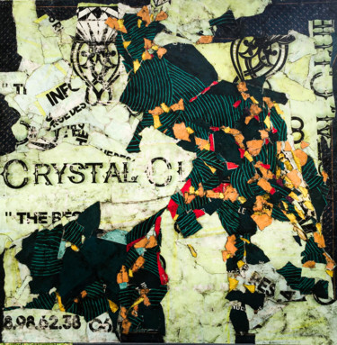 """Collages titled """"Crystal"""" by Ka, Original Art, Collages"""