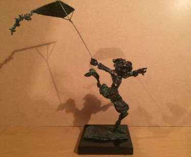 """Sculpture titled """"Fly a kite / Faire…"""" by Erno Toth, Original Art, Metals"""