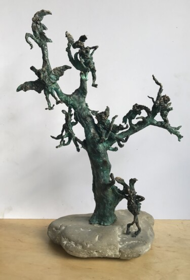 """Sculpture titled """"Fairy tree"""" by Erno Toth, Original Art, Bronze"""