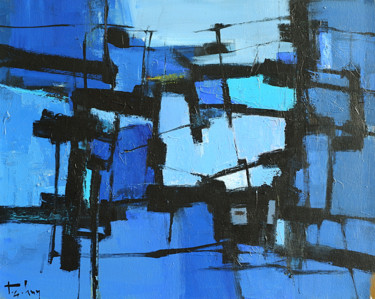 """Painting titled """"Blue day"""" by Anh Huy Tran, Original Art, Acrylic"""