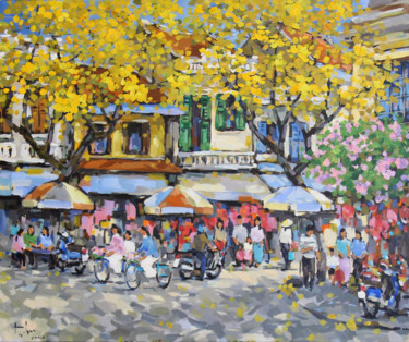"""Painting titled """"Mid Autumn"""" by Anh Huy Tran, Original Art, Acrylic"""