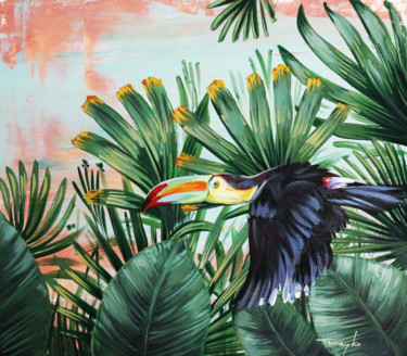 """Painting titled """"In the jungle. Touc…"""" by Trayko Popov, Original Art, Acrylic"""