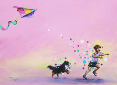 """Painting titled """"A Magical Childhood…"""" by Trayko Popov, Original Art, Acrylic"""