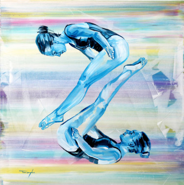 """Painting titled """"Diving 