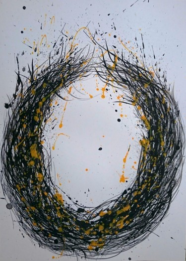 Drawing, ink, abstract, artwork by Katerina Evgenieva
