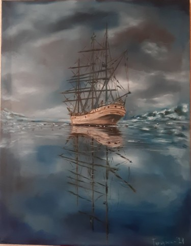 """Painting titled """"mystery"""" by Dejan Gulicoski, Original Art, Oil"""