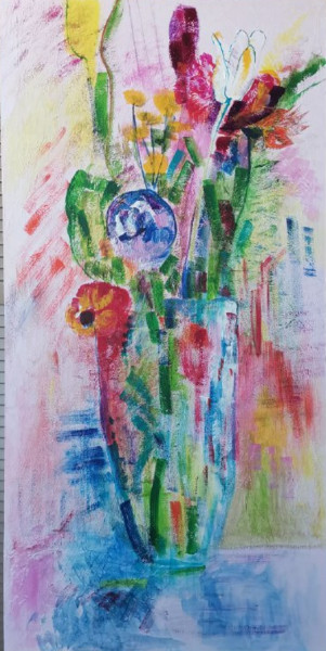 """Painting titled """"In search of spring"""" by Uliana Veretennikova, Original Art, Acrylic Mounted on Stretcher frame"""