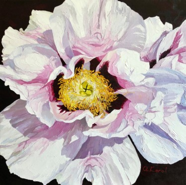 """Painting titled """"Pinky shimmering"""" by Ulyana Korol, Original Art, Oil"""