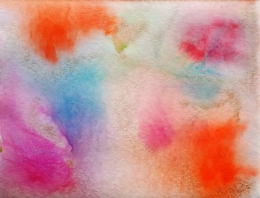 Color Painting, watercolor, abstract, artwork by Ulrike Kröll