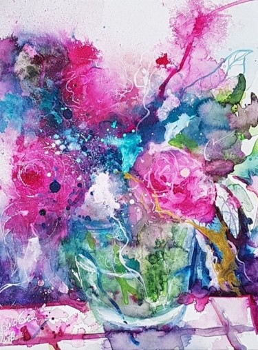 """Painting titled """"feelings"""" by Ursula Gnech, Original Art, Watercolor"""