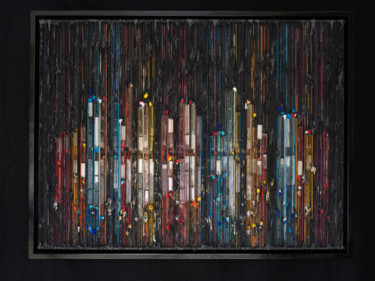 """Collages titled """"December Nights"""" by Eric Goldstein, Original Art, Acrylic"""