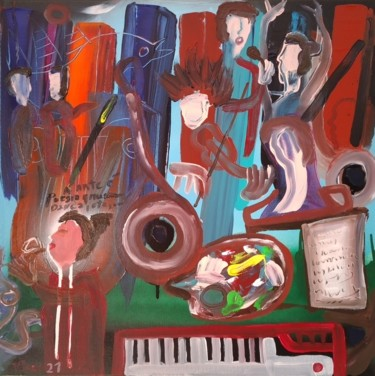 Music Painting, acrylic, outsider art, artwork by Vitor Pisco