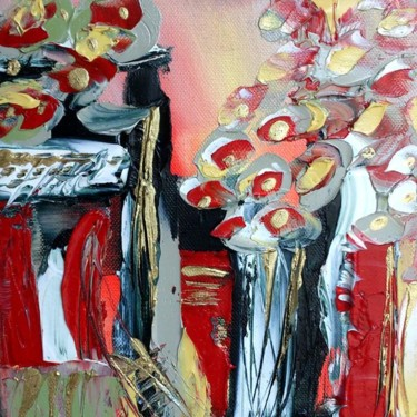 Painting, oil, abstract, artwork by Valerie Nunes