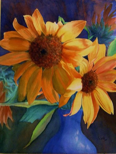 """Painting titled """"Ray of light"""" by Valente, Original Art,"""